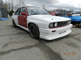 FRONT FENDERS (L+R) BMW E30 M3 WIDE BODY +80 MM (FIBERGLASS CLOTH)