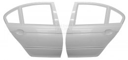 REAR DOORS WITH FRAMES BMW E46 SEDAN (FIBERGLASS CLOTH)