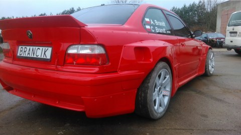 SIDE REAR BUMPER ADDONS BMW E36 PANDEM SMALL (FIBERGLASS CLOTH)
