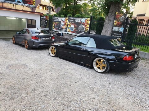 REAR OVER-FENDERS BMW E46 PANDEM SMALL (FIBERGLASS CLOTH)