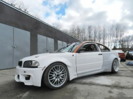 SIDE SKIRTS BMW E46 COUPE KING DRIFT XXL (FIBERGLASS CLOTH)