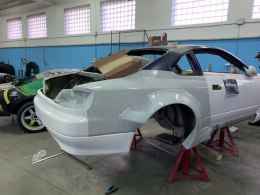 REAR REINFORCEMENT PANEL WITH FENDERS NISSAN S15 (FIBERGLASS CLOTH)