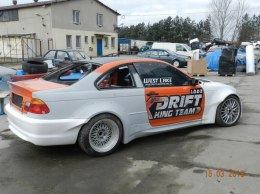REAR BUMPER BMW E46 COUPE KING DRIFT XXL (FIBERGLASS CLOTH)