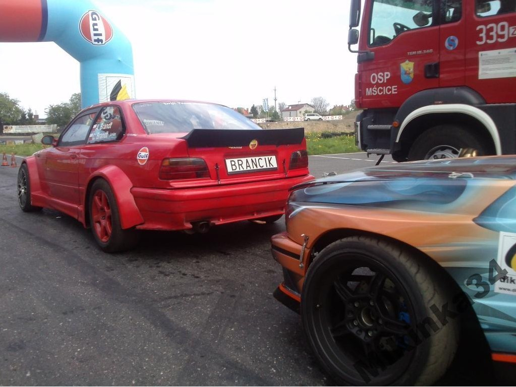 SPOILER TYŁ BMW E36 COUPE (FIBERGLASS CLOTH)