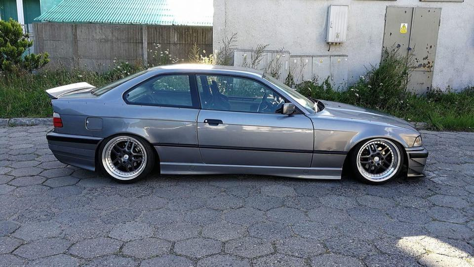 FELONY FRONT OVER-FENDERS BMW E36 COUPE (FIBERGLASS CLOTH)